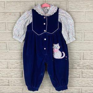 Baby Togs Vintage Shirt Jumpsuit Set 18 Months